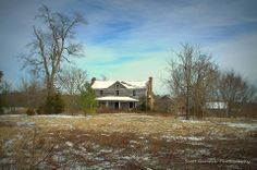 """""""Old Times There Are Not Forgotten"""" This winter landscape view of the old Bass farm house in Warren Co. NC gives us a glimpse of what once was and what we wish could be once more. (2014)"""
