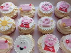 Pink and Pretty  Peppa Pig cupcakes