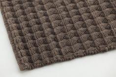 Alfombra lisa rectangular de lana 3D by GAN By Gandia Blasco