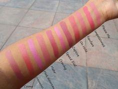 """7. Desejo : uma """"explosão de ameixa"""" cor-de-rosa plummy que irá atender escuro para pele morena tons muito.8. Mehr : é descrito como """"rosa azul sujo"""". tons de pele indianos10. Crosswires : é descrito como """"laranja rosado limpo"""". rosa coral tons de pele indianos e é um dos mais bonitos tons de coral Mac tem.11: Cosmo : é descrito como """"Pink Coco"""". rosa suja todos os dias que pele indianas. É um joguete de Mehr e bastante semelhante ao galho ."""