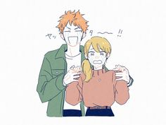 Haikyuu Yachi, Hinata Shouyou, Haikyuu Fanart, Kagehina, Haikyuu Anime, Realistic Hair Drawing, Fruits Basket Anime, Tsukkiyama, Anime Love Couple