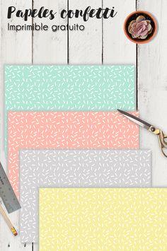 Hoy en el blog: papel digital confetti para imprimir gratis. Printables | Imprimibles | Scrapbooking | Scrap | Manualidades creativas | Papeles bonitos | Free digital paper | Papiers à imprimes | DIY