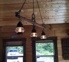 Rustic Antique Yoke Light Chandelier by DugeyDesigns on Etsy