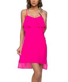 Another great find on #zulily! Hot Pink Sleeveless Hi-Low Dress #zulilyfinds
