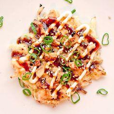 "Okonomiyaki (Japanese pancakes) ... a great way to ""hide"" cabbage!"