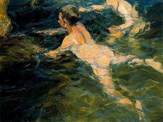 """""""Swimmers, Javea"""" by Joaquín Sorolla"""