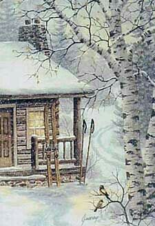 Winter Retreat, by Kathy Glasnap.