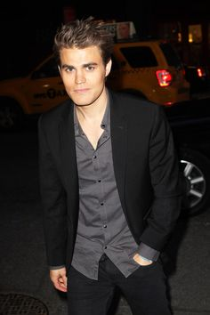 Paul Wesley Arrives to the After-Party For the 2012 CW Upfronts