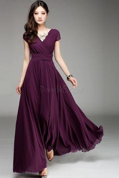Colorful Summer Modern V-Neck Long Maxi Dress 11Colors 10974373 - Maxi Dresses - Dresswe.Com