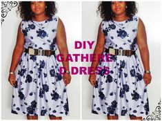 DIY SIMPLE GATHERED DRESS