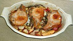 The Weekend Gourmet: Weekend Gourmet Flashback: Goat Cheese-Stuffed Pork Chops with Maple-Balsamic Parsnips, Apples & Potatoes