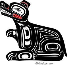 Haida bear♦️More Pins Like This At FOSTERGINGER @ Pinterest