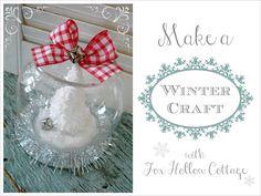 #Christmas DIY Snow Globe | Mini Cloche Craft