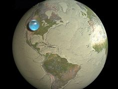If You Put All Earth's Water In One Place, It'd Look Like This