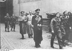 Dönitz, Jodl, and Speer being arrested by British troops, 23 May 1945