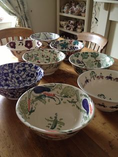 EMMA BRIDGEWATER Collection of Salad Bowls