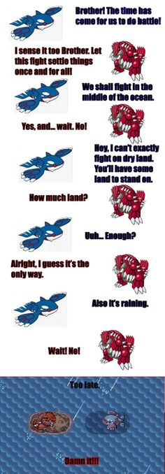 I Always Thought the Fight Between Groudon and Kyogre Was Really One-sided