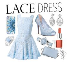 """""""Lace Dresses"""" by sahithi2523 ❤ liked on Polyvore featuring Alex Perry, Bling Jewelry, Casetify, Clinique, BillyTheTree, OMEGA and Valentino"""