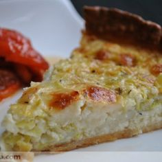 Quiche de puerros y queso de cabra Quiches, Omelettes, Yummy Drinks, Yummy Food, Bread And Pastries, Quiche Recipes, Kitchen Recipes, Cooking Time, Veggies