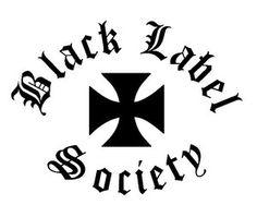 Black Label Society Iron Cross Logo Vinyl Decal Sticker