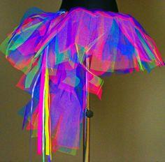 Tutu Skirt UV Neon Blacklight Pink Green Purple Blue | eBay