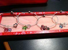 Wire charm bracelets