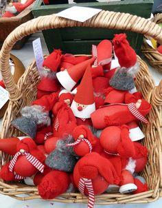 Scandinavian Christmas Bazaar, Swedish Church, 21 St Georges Rd, Toorak - love the cone shaped elves!