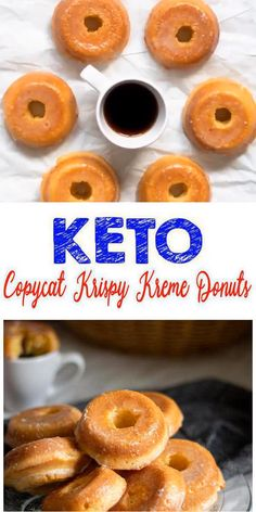 keto snacks How does a Krispy Kreme donut sound on a ketogenic diet? Pretty tasty right? Now you can make a low carb keto copycat Krispy Kreme donut with this simple recipe. I know I didnt want to give up donuts Beignets Sans Gluten, Gluten Free Doughnuts, Keto Donuts, Sugar Free Donuts, Donuts Donuts, Donuts Beignets, Low Carb Doughnuts, Desserts Keto, Keto Snacks