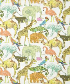 NEW Liberty of London Tana Lawn: Queue for the Zoo Pastel (B) – DuckaDilly Liberty Art Fabrics, Liberty Of London Fabric, Liberty Print, Liberty Kids, Textiles, Textures Patterns, Print Patterns, Paper Patterns, Sewing Patterns