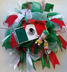 Viva Mexico Wreath El Chavo Wreath Mexican by SouthernHeartWreaths