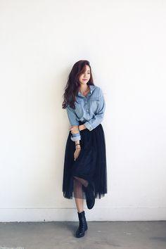 Blue Cotton Collar Shirt