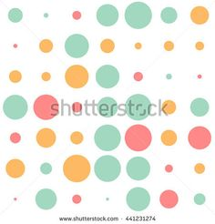 Seamless polka dot pattern with colorful circles on a white background. Vector repeating texture.