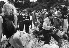 A Dutch actress, her name lost to history, poses for photographers at Cannes in 1962.