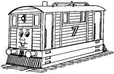 Thomas Tank Engine Coloring Pages Boy Kids Print