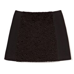 Opening Ceremony Marty Pieced Astrakhan Skirt ($289) ❤ liked on Polyvore featuring skirts, mini skirts, short mini skirts, wool skirt, opening ceremony skirt, opening ceremony and wool mini skirt