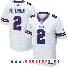 065f32456 Men s 2017 NFL Draft Buffalo Bills  2 Nathan Peterman White Road Stitched NFL  Nike Elite