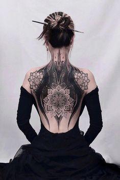 Cover Up Back Tattoos, Full Back Tattoos, Back Tattoo Women, Cover Tattoo, Feminine Back Tattoos, Tattoo Back, Tattoo Spine, Unique Tattoos, Cute Tattoos