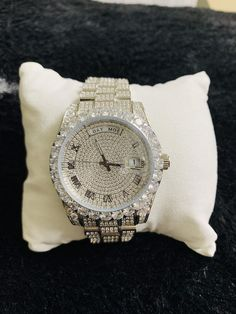 Hip Hop Watches, Gold And Silver Watch, Hip Hop Bling, Diamond Watches For Men, Expensive Watches, Luxury Watches, Fashion Watches, Michael Kors Watch, Stainless Steel