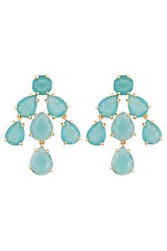 kate spade new york accessories Aqua Kate Chandelier Earrings - Anything kate spade has our seal of approval, especially these blue chandelier earrings! Our Marketing Representative Maggie rented the pink pair this summer and loved them! - Only $15!