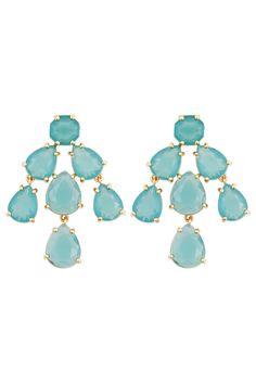 Aqua Kate Chandelier Earrings