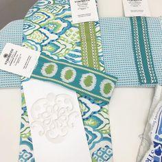 Nice mix! @danagibsondesign  fabrics and trimmings collection for Stroheim. | 📷: @danagibsondesign