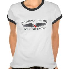 Squamous Cell Carcinoma Courage Faith Wings Tshirt by www.giftsforawareness.com #squamouscellcarcinoma #cancerawareness