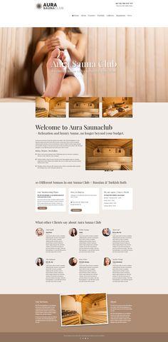 Aura - a #WordPress #Sauna #Theme