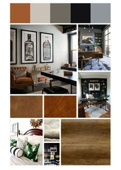 Mens home office moodboard