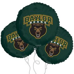 "Baylor Bears 18"" Mylar Balloons // Amazon sells these online! They're pretty hard to find in stores."