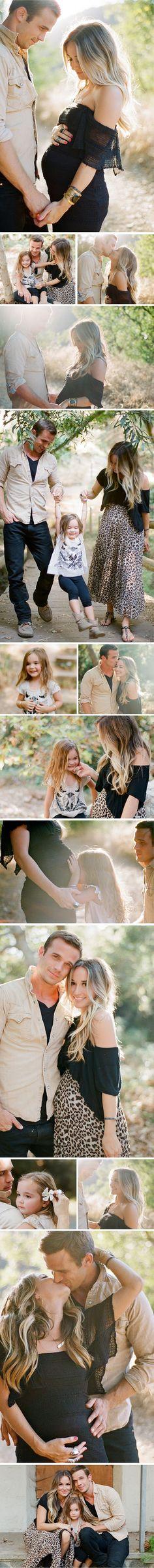 Hình ảnh gia đình hạnh phúc trước và sau khi sinh của bà mẹ trẻ