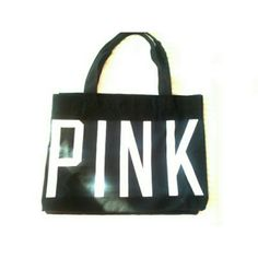 VICTORIA SECRET LARGE PINK WEEKEND BAG Black n white pink victoria secret weekend bag, has a handle no ziper..if interested will through in the VS PINK N BLACK DOG FOR 30. WILL CREATE A SEPARATE LISTING. JUST ASK PRIOR TO PURCHASE. Bag has a small on the handle Bags Travel Bags