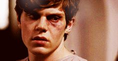 Evan Peters as Kit Walker in American Horror Story Asylum gif