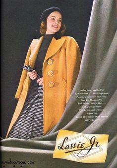 1940s autumn yellow coat