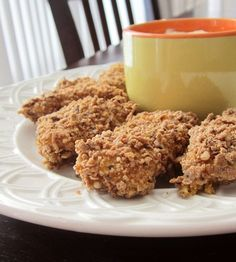 Healthy Baked Curry Chicken Nuggets (naturally gluten-free and egg-free)